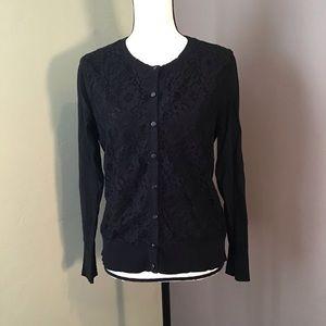 Merida Black Lace Cardigan size XL